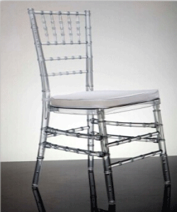 Clear Resin Tiffany Chairs for Sale